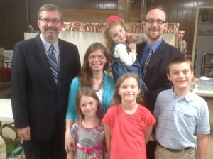 With Rev. Michael and Aubrey Ives and Family