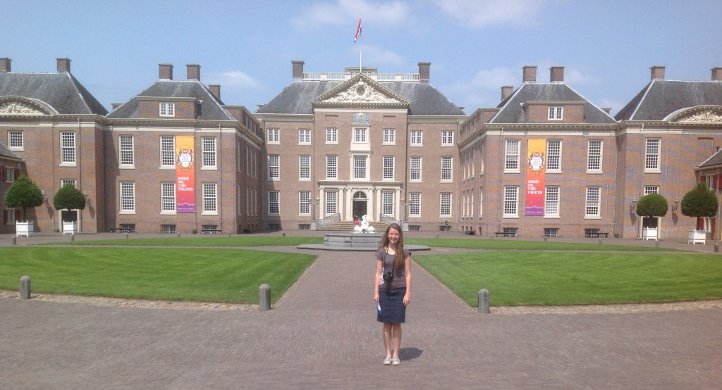Our Daughter Lydia in front of the Rijksmuseum Paleis Het Loo