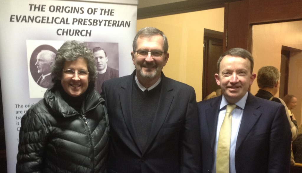 With Rev. Andrew Lucas, Omagh Evangelical Presbyterian Church