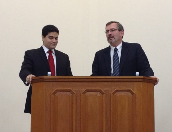 Preaching in Brazil, with Translator Breno Macedo