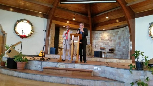 Preaching with Translator in Ethiopia