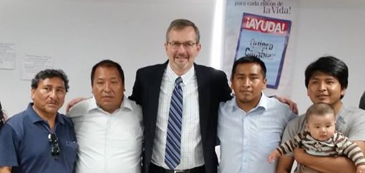 With Brethren from Bolivia