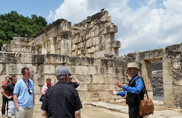 Dr. Halvor Ronning at Ancient Synagogue in Capernaum