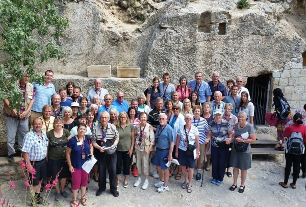 With Tour Group at Empty Tomb